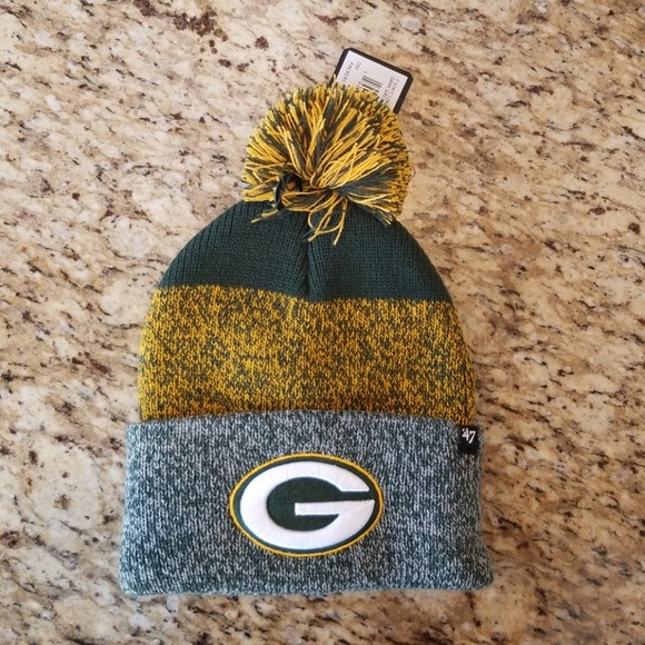 1a4bc6e9790 47 brand Green Bay Packers beanie with pom